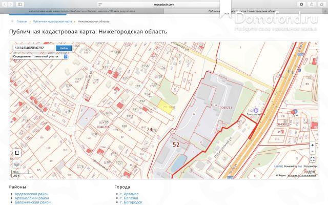Кадастровая карта поиск по координатам точкти